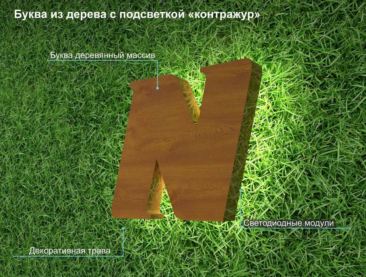 Буква деревянная с контражуром